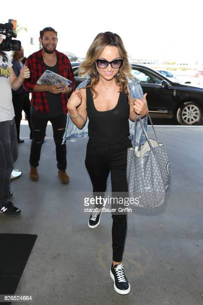 Giada De Laurentiis is seen at LAX on August 04 2017 in Los Angeles California