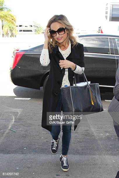 Giada De Laurentiis is seen at LAX on March 07 2016 in Los Angeles California
