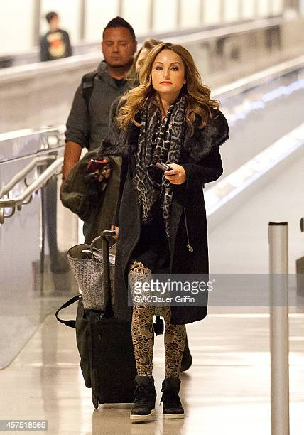 Giada De Laurentiis is seen at Los Angeles International airport on December 17 2013 in Los Angeles California