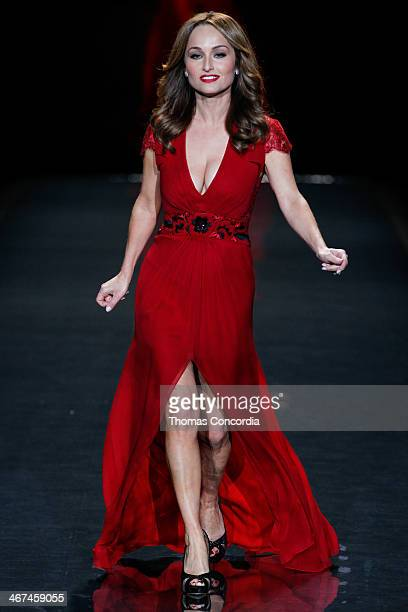 Giada De Laurentiis walks the runway wearing Carolina Herrera at Heart Truth Red Dress Collection during MercedesBenz Fashion Week Fall 2014>> at The...