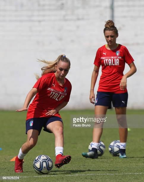 Giada Greggi of Italy in action during the Italy women U19 photocall and training session on July 12 2018 in Formia Italy