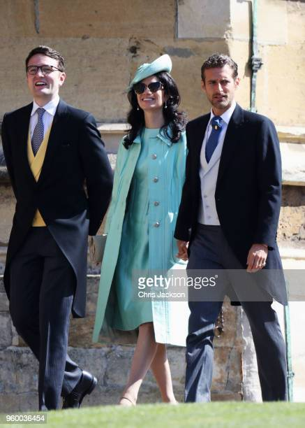 Giada Lubomirski and Alexi Lubomirski arrive at the wedding of Prince Harry to Ms Meghan Markle at St George's Chapel Windsor Castle on May 19 2018...