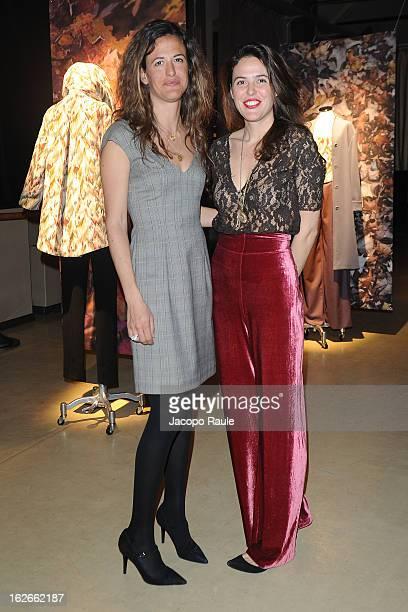 Giada Tronchetti Provera and Ilaria Tronchetti Provera attend Marta Ferri presentation as part of Milan Fashion Week Womenswear Fall/Winter 2013/14...