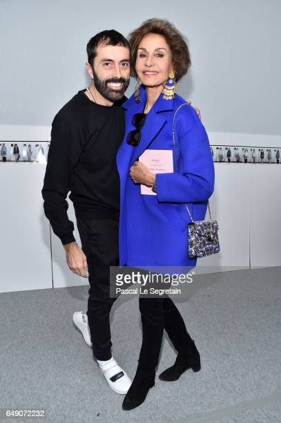 Giambattista Valli and Naty Abascal attend the Moncler Gamme Rouge show as part of the Paris Fashion Week Womenswear Fall/Winter 2017/2018 on March 7...