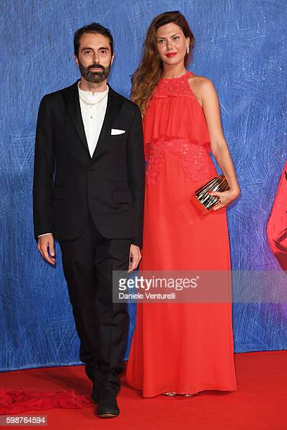 Giambattista Valli and Sara Battaglia attend the premiere of 'Franca Chaos And Creation' during the 73rd Venice Film Festival at Sala Giardino on...