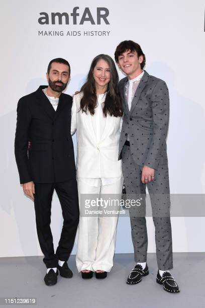 Giambattista Valli AnneSofie Johannson and Ross Lynch attends the amfAR Cannes Gala 2019 at Hotel du CapEdenRoc on May 23 2019 in Cap d'Antibes France