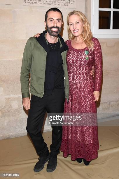 Giambattista Valli attends a cocktail in honour of Diana Widmaier Picasso and Alexander SC Rower awarded with the Chevalier and Officier de l'Ordre...