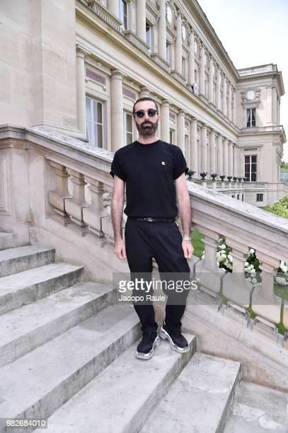 Giambattista Valli attends the Balmain Menswear Spring/Summer 2019 show as part of Paris Fashion Week on June 24 2018 in Paris France