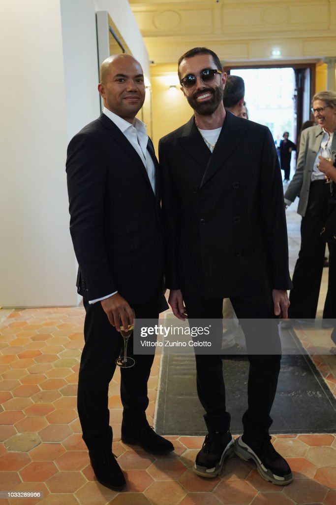 Giambattista Valli attends The Kering Heritage Days Opening Night at 40 Rue de Sevres on September 14, 2018 in Paris, France.