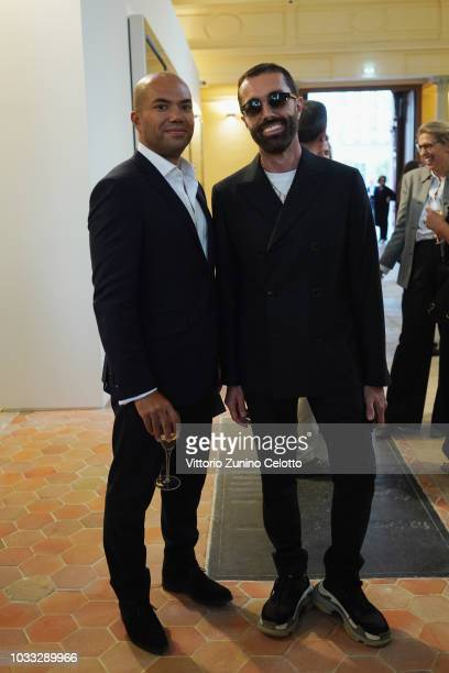 Giambattista Valli attends The Kering Heritage Days Opening Night at 40 Rue de Sevres on September 14 2018 in Paris France