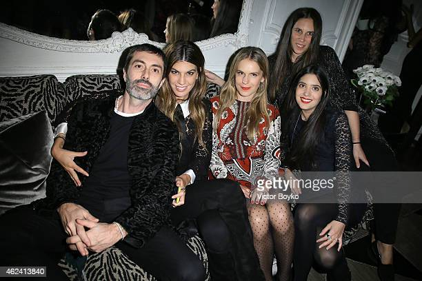 Giambattista Valli Bianca Brandolini DÕAdda Eugenie Niarchos Tatiana Santo Domingo and Noor Fares attend the party for Dasha Zhukova' cover for Wall...