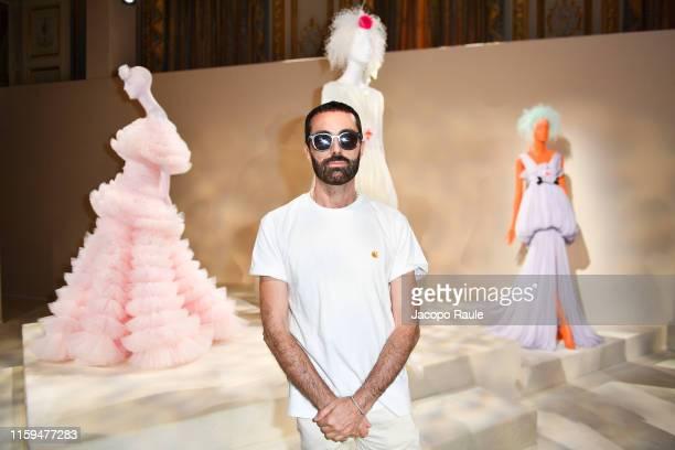 Giambattista Valli is seen during the Giambattista Valli Haute Couture Fall/Winter 2019 2020 show as part of Paris Fashion Week on July 01, 2019 in...