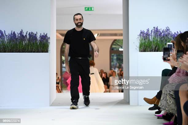 Giambattista Valli walks the runway during the Giambattista Valli Haute Couture Fall Winter 2018/2019 show as part of Paris Fashion Week on July 2...