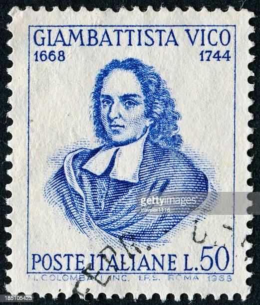 giambattista vico stamp - postmark stock pictures, royalty-free photos & images