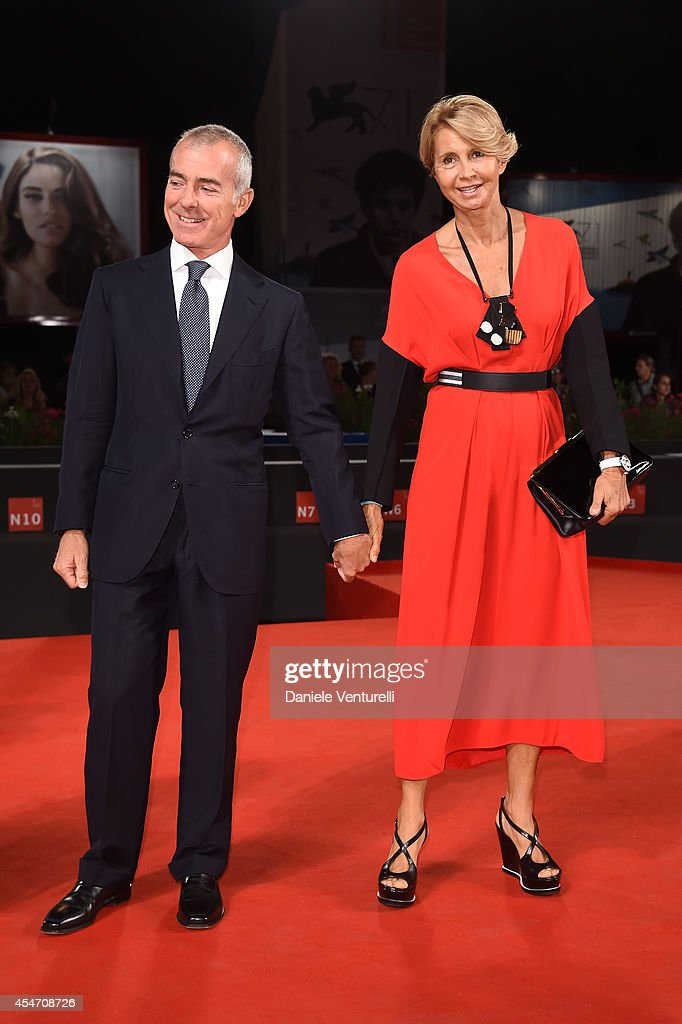 Giampaolo Letta and Rossana Letta attend 'Perez' Premiere during the 71st Venice Film Festival at Sala Grande on September 5, 2014 in Venice, Italy.