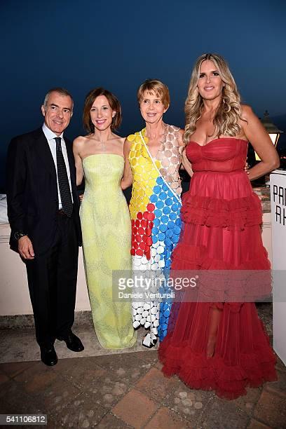Giampaolo Letta Silvia Grilli Rossana Letta and Tiziana Rocca attend Baume Mercier Closing Night 62 Taormina Film Fest on June 18 2016 in Taormina...