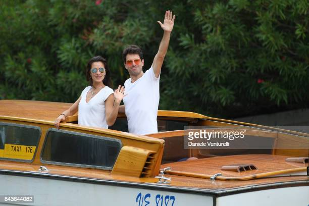 Giampaolo Morelli and Gloria Bellicchi are seen during the 74th Venice Film Festival on September 7 2017 in Venice Italy