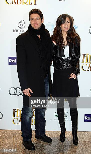 Giampaolo Morelli and Gloria Bellicchi attend the Hugo Cabret premiere at Embassy Cinema on February 2 2012 in Rome Italy