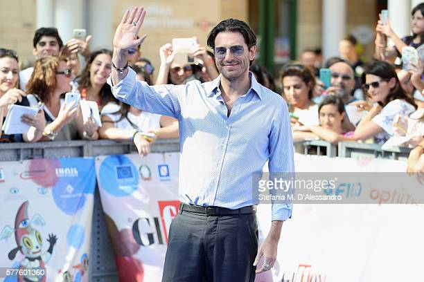 Giampaolo Morelli attends Giffoni Film Fest 2016 Day blue carpet on July 19 2016 in Giffoni Valle Piana Italy