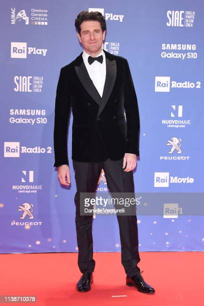 Giampaolo Morelli walks a red carpet ahead of the 64 David Di Donatello awards ceremony Red Carpet on March 27 2019 in Rome Italy