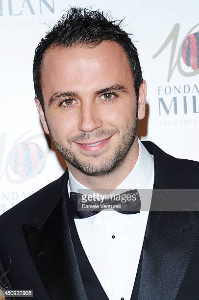 Giampaolo Pazzini attends Fondazione Milan 10th Anniversary Gala on November 20 2013 in Milan Italy