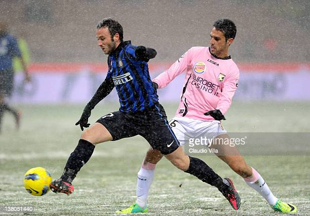 Giampaolo Pazzini of FC Inter Milan during the Serie A match between FC Internazionale Milano and US Citta di Palermo at Stadio Giuseppe Meazza on...