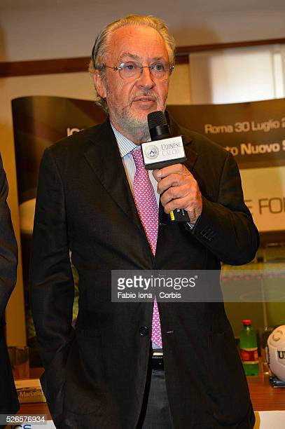 GIampaolo Pozzo President od Udinese during the press conference for the new stadium, Rome on 30 of july 2013