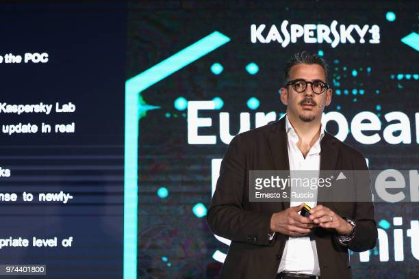 Giampiero Cannavo holds a speech at the Kaspersky Lab European Reseller Summit 2018 on June 12 2018 in Milano Marittima Cervia Italy Kaspersky Lab...
