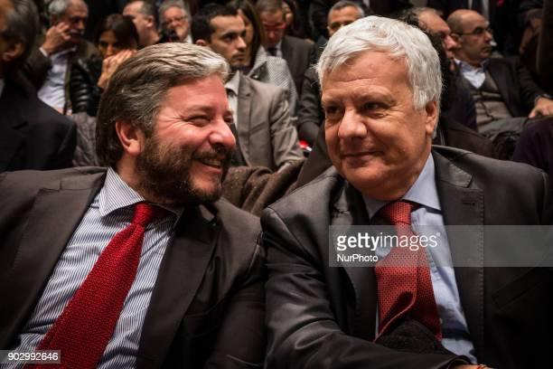 Giampiero D'Alia and Gianluigi Galletti attend presentation of the symbol of Civica Popolare Lorenzin for the general elections of 4 March 2018on...