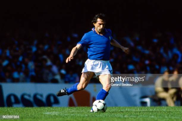 Giampiero Marini of Italy during the World Cup match between Italy and Peru at Balaidos Stadium Vigo Spain on 18h June 1982