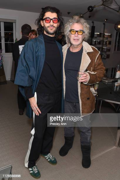 Giampiero Tagliaferri and Brad Elterman attend Oliver Peoples x Tasya van Ree Celebrates Who is Oliver Exhibition at LECLAIREUR on February 13 2019...