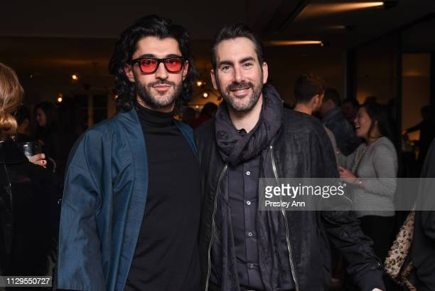 Giampiero Tagliaferri and Dan Brunn attend Oliver Peoples x Tasya van Ree Celebrates Who is Oliver Exhibition at LECLAIREUR on February 13 2019 in...