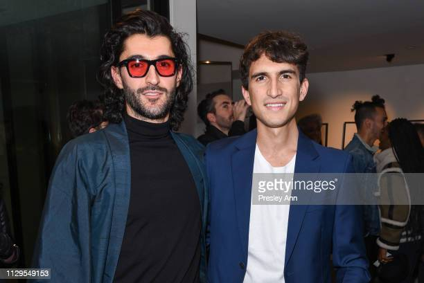 Giampiero Tagliaferri and Rocco Basilico attend Oliver Peoples x Tasya van Ree Celebrates Who is Oliver Exhibition at LECLAIREUR on February 13 2019...