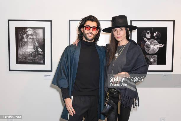 Giampiero Tagliaferri and Tasya van Ree attend Oliver Peoples x Tasya van Ree Celebrates Who is Oliver Exhibition at LECLAIREUR on February 13 2019...
