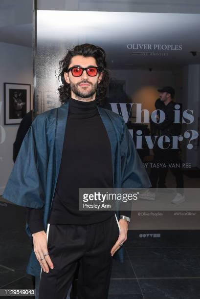 Giampiero Tagliaferri attends Oliver Peoples x Tasya van Ree Celebrates Who is Oliver Exhibition at LECLAIREUR on February 13 2019 in Los Angeles...