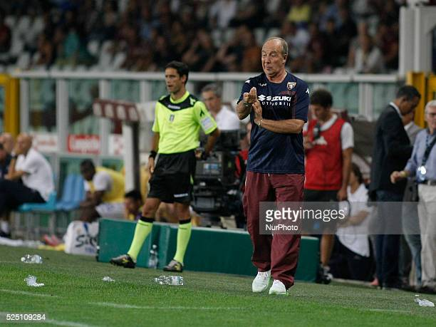Giampiero Ventura during the seria A match between Torino FC and ACF Fiorentina at the Olympic Stafium of Turin on august 30 2015 in Torino Italy