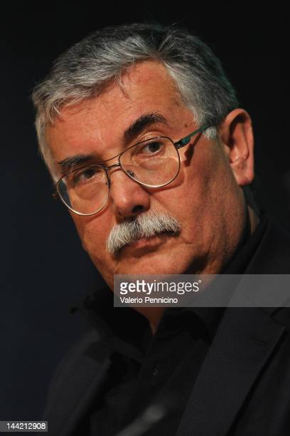 Gian Antonio Stella attends 'Gramsci Manzoni e mia suocera' book presentation during the 2012 International Book Fair of Torino on May 11 2012 in...