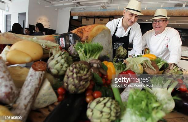 Gian Franco Razzani and Riccardo Scaioli Grano Italiano Pizza Tailor in Tsim Sha Tsui 15APR14