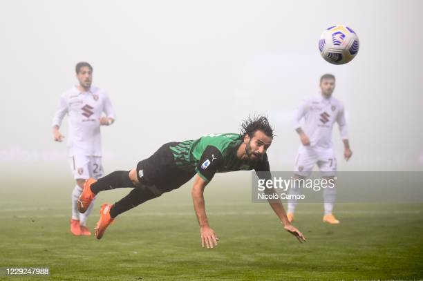 Gian Marco Ferrari of US Sassuolo in action during the Serie A football match between US Sassuolo and Torino FC The match ended 33 tie