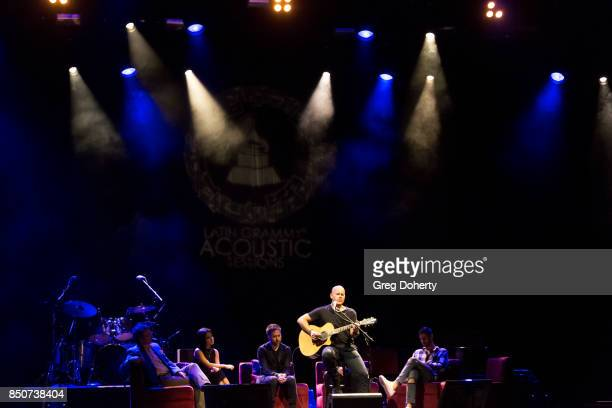 Gian Marco performs at the Latin GRAMMY Acoustic Sessions With Becky G Camila And Melendi at The Novo by Microsoft on September 20 2017 in Los...