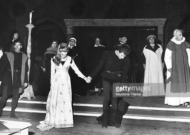 Gian Maria Volonte And Carla Gravina In The Play Juliet And Romeo 1960'S