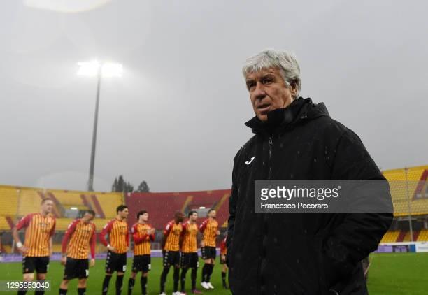 Gian Piero Gasperini Atalanta BC coach during the Serie A match between Benevento Calcio and Atalanta BC at Stadio Ciro Vigorito on January 09, 2021...