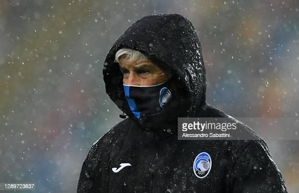 Gian Piero Gasperini head coach Italy of Atalanta BC before the Serie A match between Udinese Calcio and Atalanta BC at Dacia Arena on December 06,...