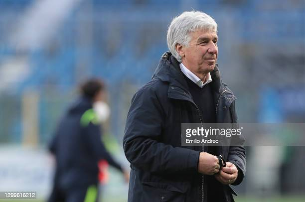 Gian Piero Gasperini, Head Coach of Atalanta B.C. Looks on after the Serie A match between Atalanta BC and SS Lazio at Gewiss Stadium on January 31,...