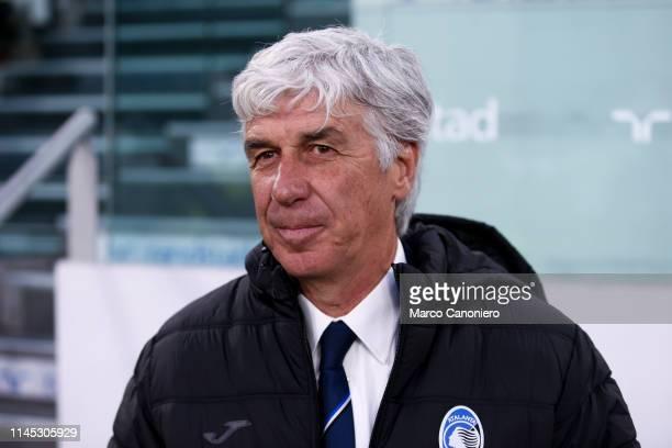 Gian Piero Gasperini head coach of Atalanta Bergamasca Calcio looks on before the Serie A football match between Juventus Fc and Atalanta Bergamasca...