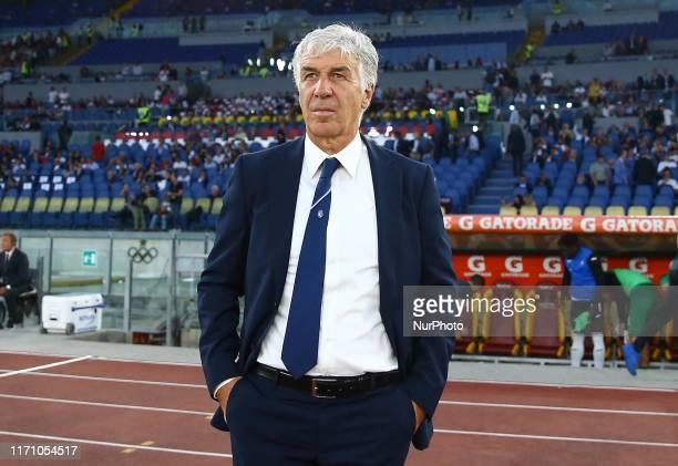 Gian Piero Gasperini manager of Atalanta during the Serie A match AS Roma v Atalanta at the Olimpico Stadium in Rome Italy on September 25 2019