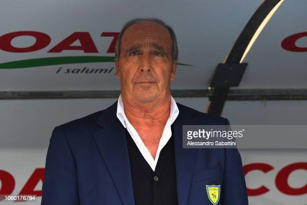 Gian Piero Ventura head coach of Chievo Verona looks on before the Serie A match between Chievo Verona and Bologna FC at Stadio Marc'Antonio...