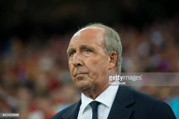 Gian Piero Ventura manager of Italy looks on before the FIFA 2018 World Cup Qualifier between Spain and Italy at Estadio Santiago Bernabeu on...