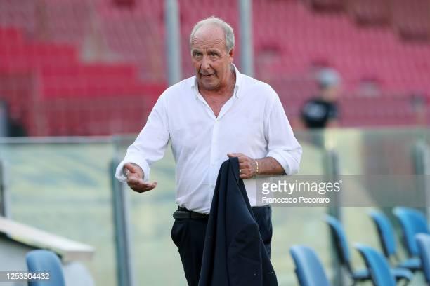 Gian Piero Ventura US Salernitana coach during the serie B match between US Salernitana and US Cremonese at Stadio Arechi on June 29, 2020 in...