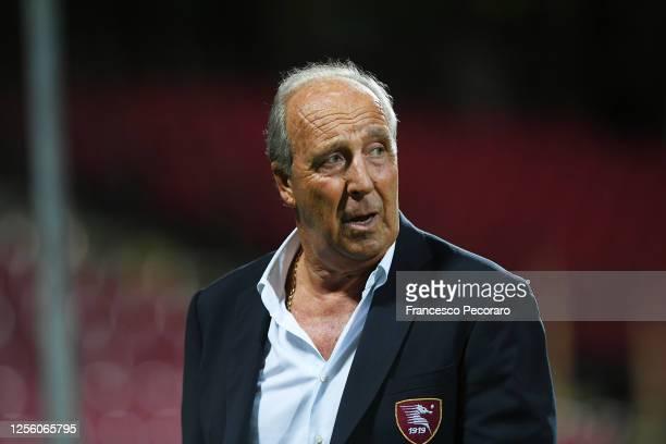 Gian Piero Ventura US Salernitana coach during the serie B match between US Salernitana and AS Cittadella at Stadio Arechi on July 13, 2020 in...